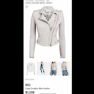 Iro Luiga light gray leather jacket